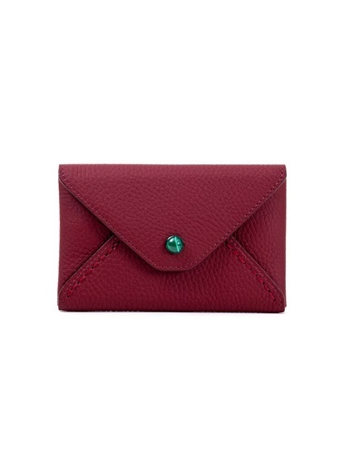 Madame Malachite Mini Zarf Malahit Taşlı  Bordo